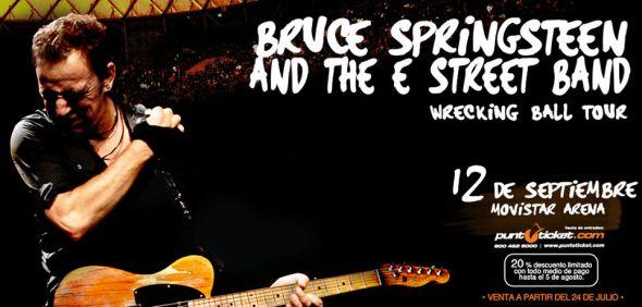 Flyer Springsteen en Chile